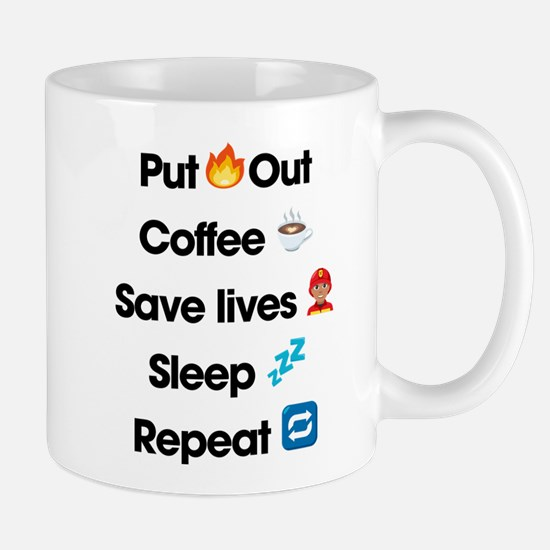 Emoji Firefighter Repeat Mug