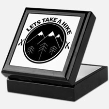 Unique Funny hiking Keepsake Box