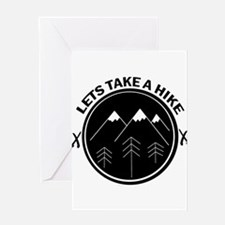 lets take a hike funny walking outd Greeting Cards