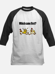 Chicken or Egg Cartoon Baseball Jersey
