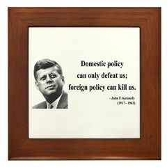 John F. Kennedy 12 Framed Tile