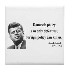 John F. Kennedy 12 Tile Coaster