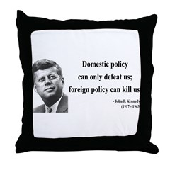John F. Kennedy 12 Throw Pillow