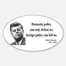 John F. Kennedy 12 Oval Decal