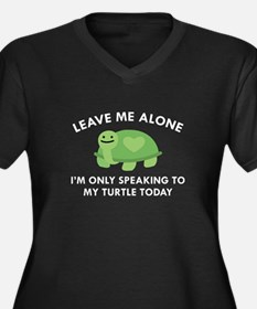 Only Speaking To My Turtle Women's Plus Size V-Nec