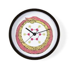 Kekule Benzene Wall Clock