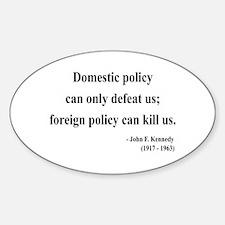 John F. Kennedy 12 Oval Decal