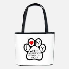 I Love My Welsh Springer Spaniel Dog Bucket Bag