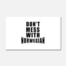 Don't Mess With Norway Car Magnet 20 x 12