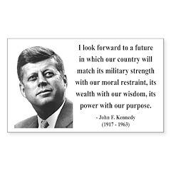 John F. Kennedy 13 Rectangle Decal