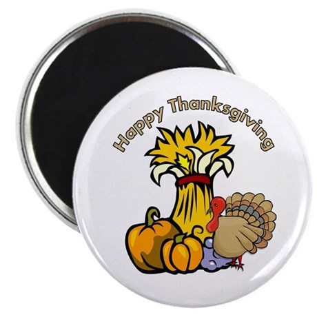 Happy Thanksgiving Pumpkins Magnet