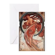 Mucha Dance Greeting Cards