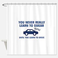 Learn To Swear Shower Curtain