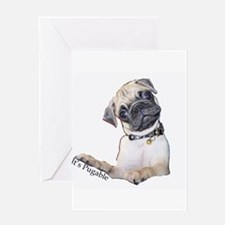 It's Pugable allright! Greeting Card