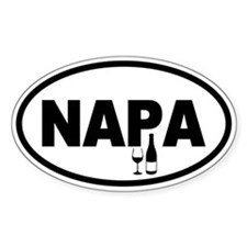 Napa Valley Oval Decal