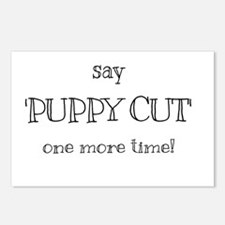 Puppy cut Postcards (Package of 8)