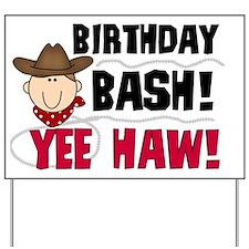 Cowboy Birthday Bash Yard Sign