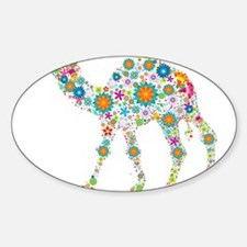 Colorful Retro Floral Camel Decal