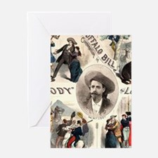 Vintage Western Buffalo Bill Greeting Cards