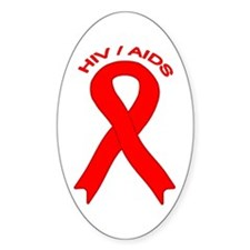 AIDS/HIV Oval Decal