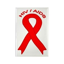 AIDS/HIV Rectangle Magnet