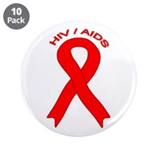 "AIDS/HIV 3.5"" Button (10 pack)"