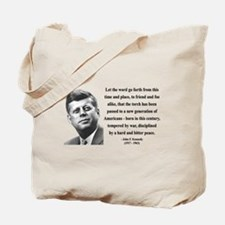 John F. Kennedy 15 Tote Bag