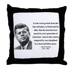 John F. Kennedy 15 Throw Pillow