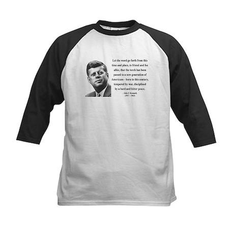 John F. Kennedy 15 Kids Baseball Jersey