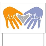 Art in Clay / Heart / Hands Yard Sign