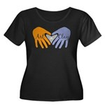 Art in Clay / Heart / Hands Women's Plus Size Scoo