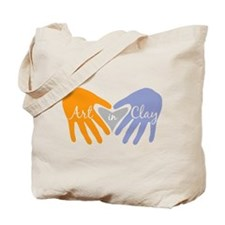 Art in Clay / Heart / Hands Tote Bag