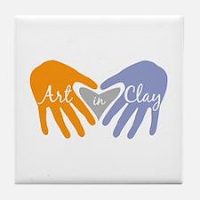 Art in Clay / Heart / Hands Tile Coaster