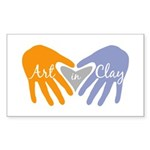 Art in Clay / Heart / Hands Sticker (Rectangle)
