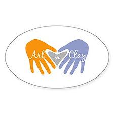 Art in Clay / Heart / Hands Decal