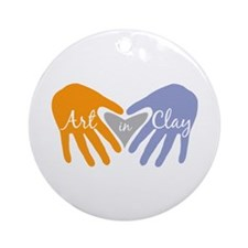 Art in Clay / Heart / Hands Ornament (Round)