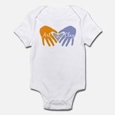 Art in Clay / Heart / Hands Infant Bodysuit