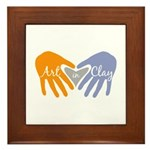 Art in Clay / Heart / Hands Framed Tile