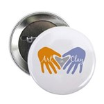 "Art in Clay / Heart / Hands 2.25"" Button (10 pack)"