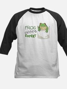 Frog Catching Expert Kids Baseball Jersey
