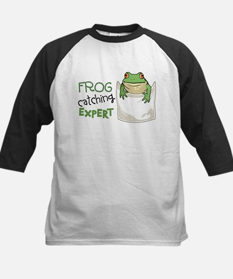 Frog Catching Expert Kids Baseball Jersey