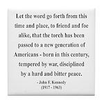 John F. Kennedy 15 Tile Coaster