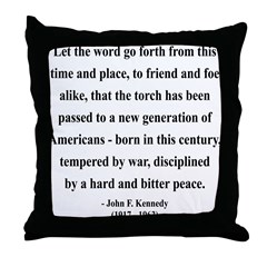 John F. Kennedy 15 Throw Pillow
