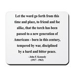 John F. Kennedy 15 Mousepad