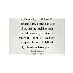 John F. Kennedy 15 Rectangle Magnet (10 pack)