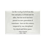 John F. Kennedy 15 Rectangle Magnet (100 pack)