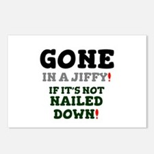 GONE IN A JIFFY - IF IT'S Postcards (Package of 8)