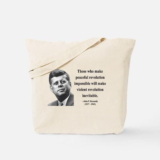 John F. Kennedy 16 Tote Bag