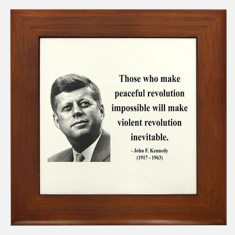 John F. Kennedy 16 Framed Tile