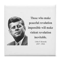 John F. Kennedy 16 Tile Coaster